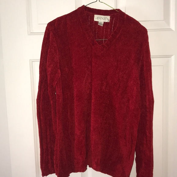 Casual Corner Tops - Women's Red Sweater Size M